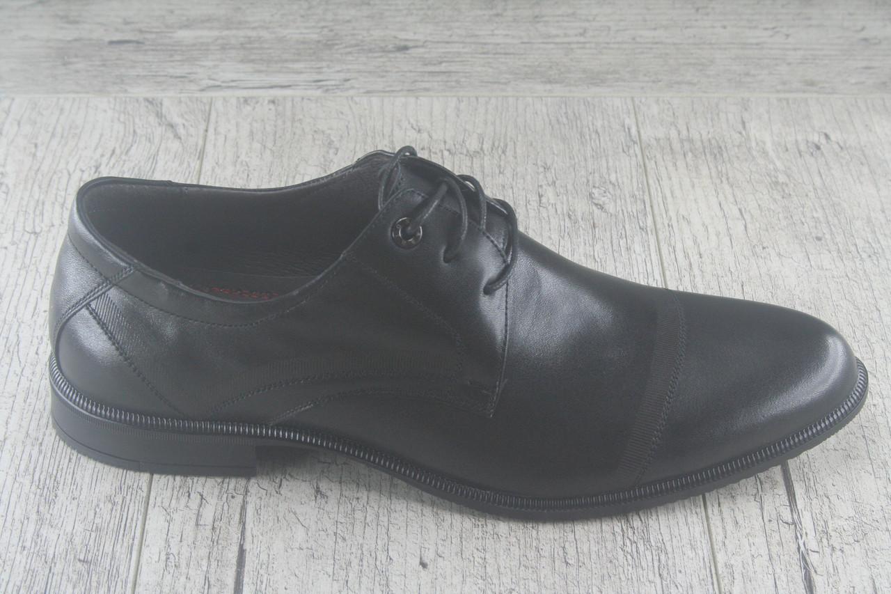 """Туфли классические черные """"Strado Hand Made"""" обувь мужская, осенняя, повседневная"""