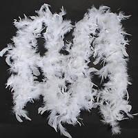 Боа из перьев 40г (белое)