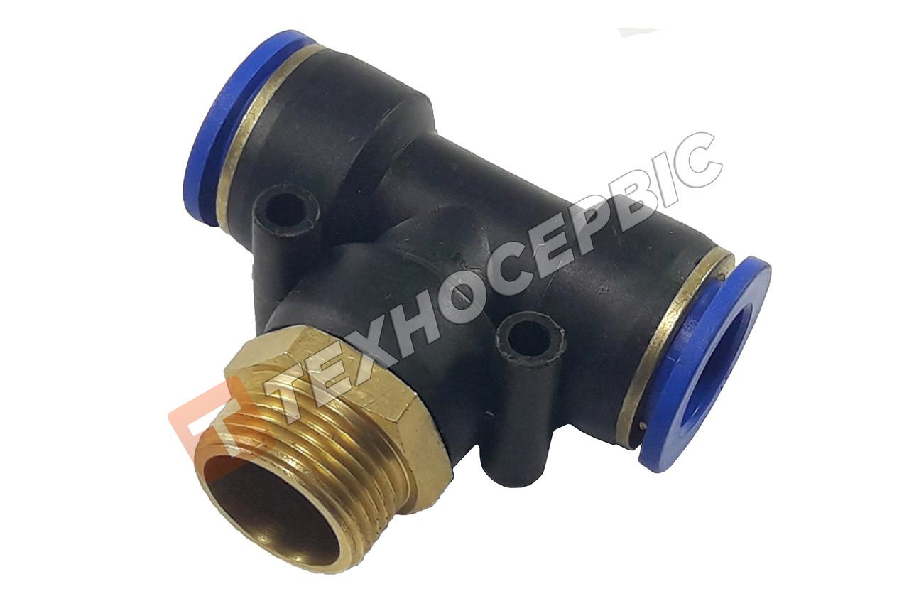 Соединитель тормозных трубок 10-10/М22 тройник резьба-трубка