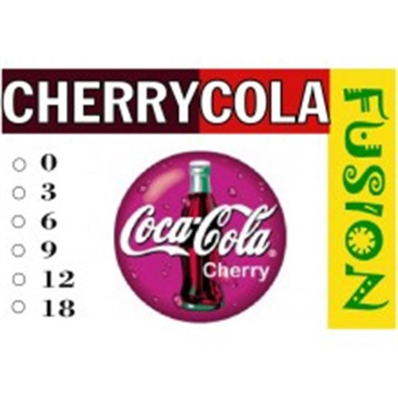 FUSION Жидкость для электронных сигарет. Тонизирующие вкусы. Cherry Cola (Кола с вишней), 18 мг