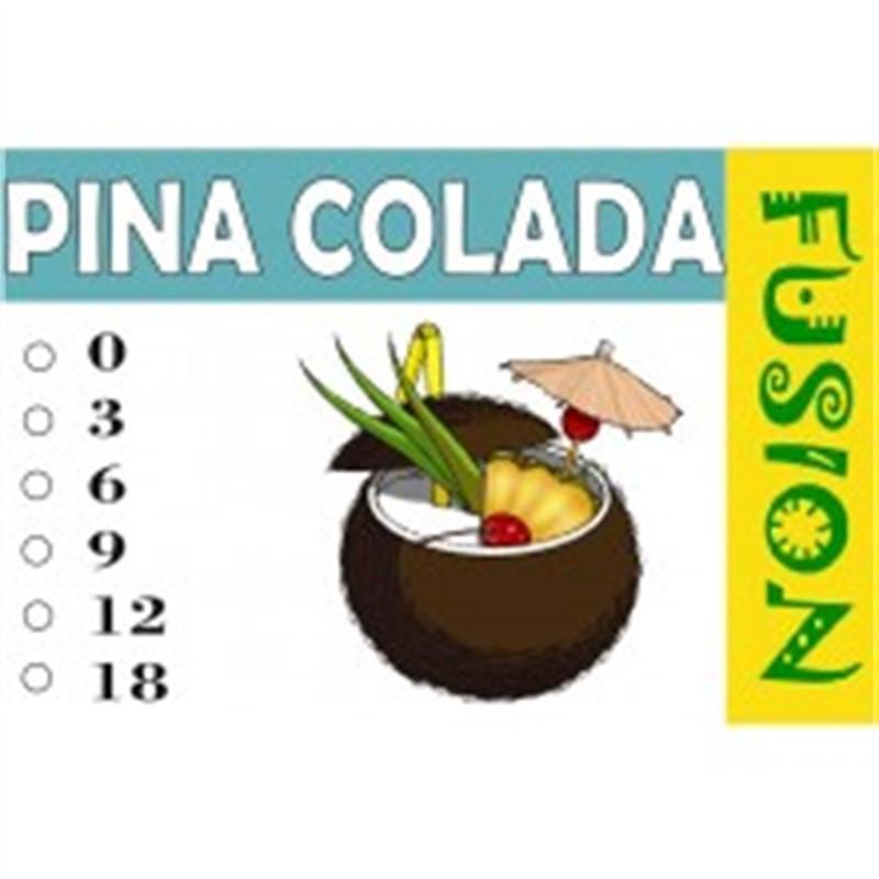 FUSION Жидкость для электронных сигарет. Тонизирующие вкусы. Pina Colada (Пина Коллада), 3 мг