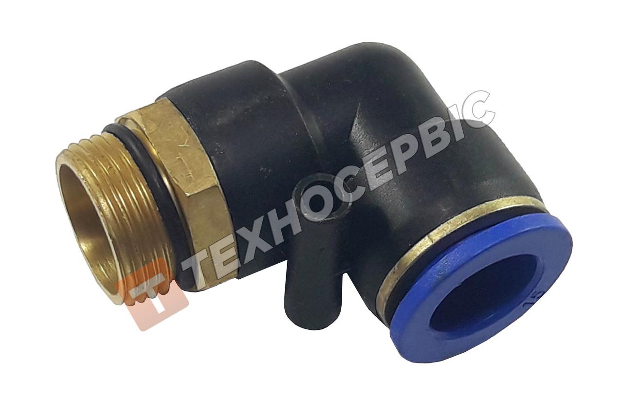 Соединитель тормозных трубок 12-М18 угловой резьба-трубка с манжетой
