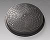 Люк полимерный смотрового колодца с нагрузкой до 1,5 тонны черный ПГ