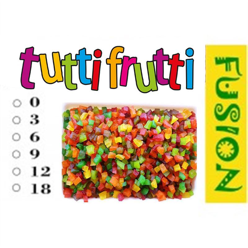 FUSION Жидкость для электронных сигарет. Тонизирующие вкусы. Tutti Frutti, 9 мг