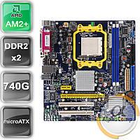 Материнская плата Foxconn A74MX-K (AM2+/AMD 740G/2xDDR2) БУ