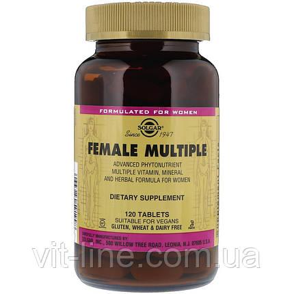 Solgar, Female Multiple, Жіночі вітаміни 120 таблеток, фото 2