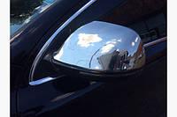 Накладки на зеркала (2 шт) OmsaLine, нержавейка - Audi Q7 2005-2015 гг.