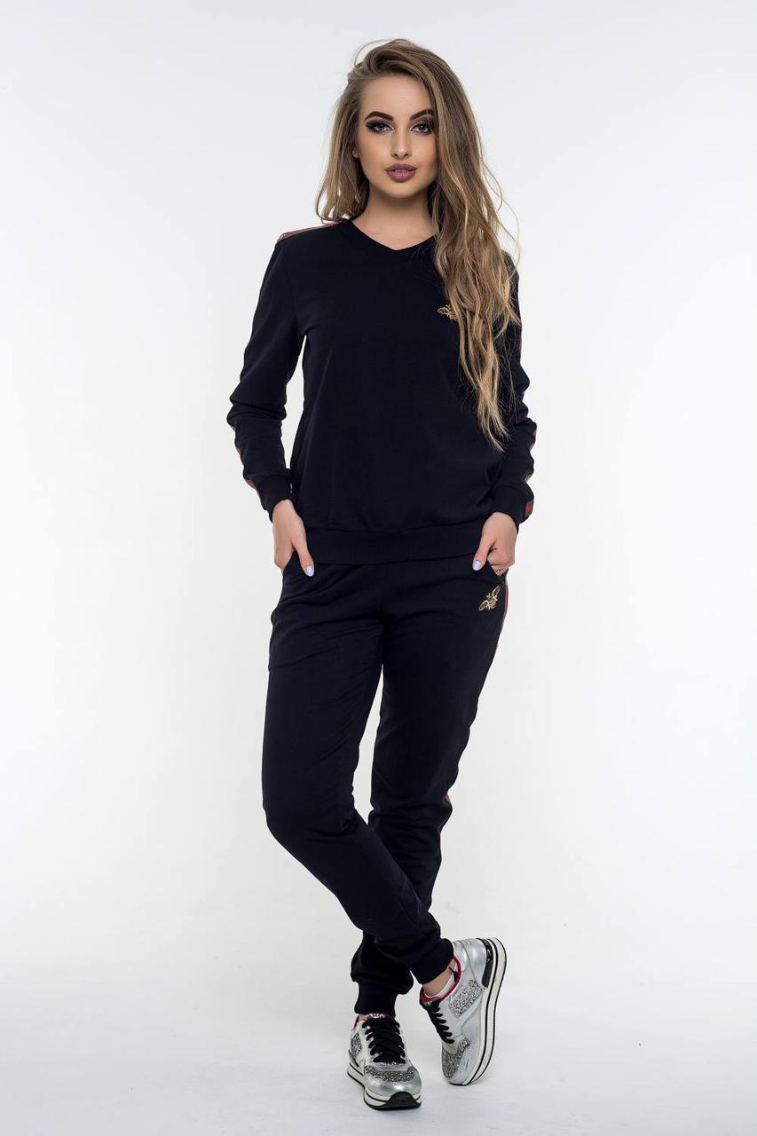 Женский спортивный костюм Камалия черный (44-52)