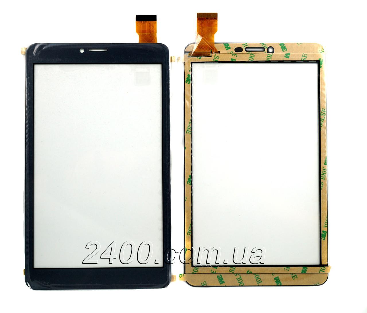 Сенсор, тачскрин планшета Nomi C070012 Corsa 3 + защитное стекло 2,5D (номи корса) серый, CY70S309-01