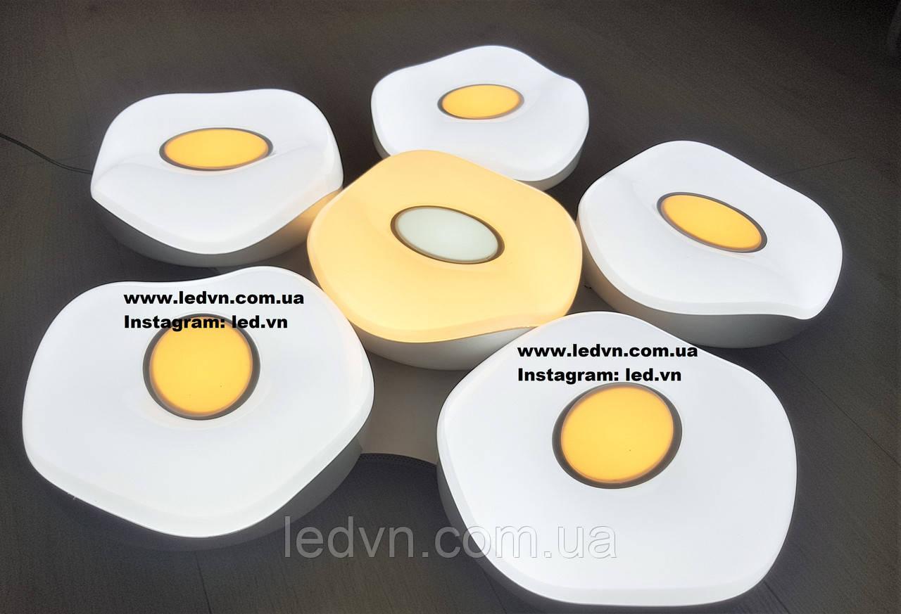 Современная светодиодная (led) люстра белая 180 ватт