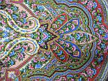 Сказочница 1763-5, павлопосадский платок шерстяной (двуниточная шерсть) с шелковой вязаной бахромой, фото 6