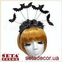 Обруч на голову Летучая мышь карнавальный на Хэллоуин
