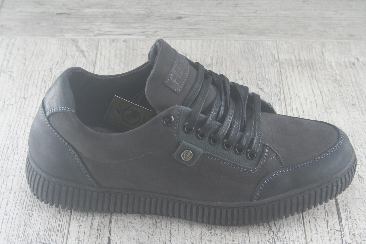 """Спортивные туфли, кеды  """"Flex"""" обувь мужская, натуральный нубук, осеняя, повседневная"""