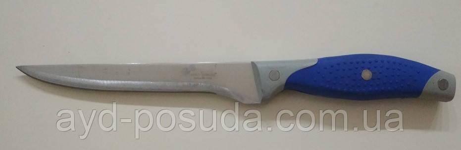 Нож кухонный с синей ручкой S03 арт. 822-5-2 (29 см.)