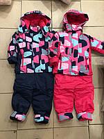 Демисезонный костюм для девочки (курточка + комбинезон)  размер 86/92 по 104/110