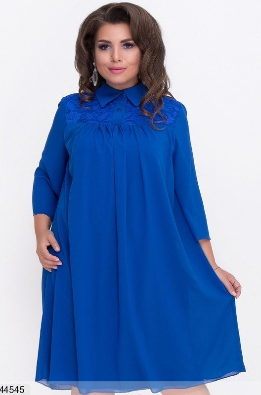 Платье электрик в стиле колокольчик размеры большие 60,58,56,54,52,50