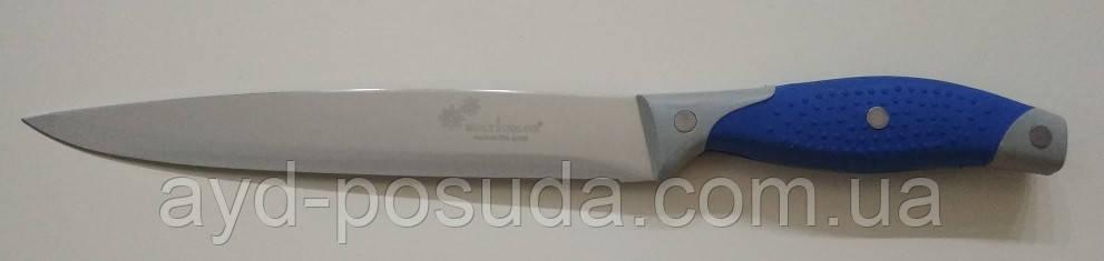 Нож кухонный с синей ручкой SO4 арт. 822-5-3 (34 см.)