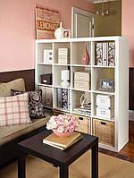 Стеллаж для салона красоты, стеллаж для офиса, перегородка из 16 секций