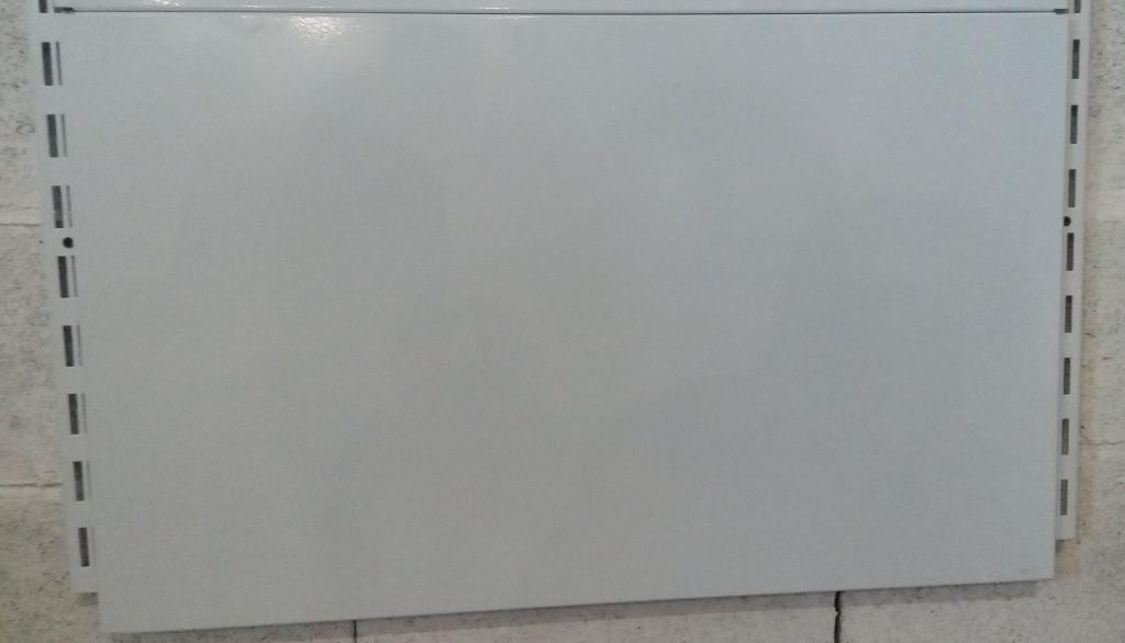 Металева панель (зашивка) для кутових стелажів глуха висотою 250мм