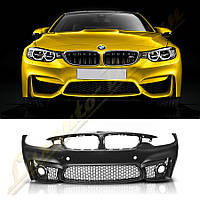Бампер передний стиль M4 для BMW F32/F33/F36, фото 1