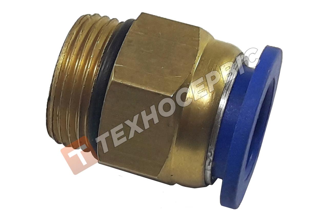 Соединитель тормозных трубок прямой(фитинг) Ø14-М16 WABCO  латунный с манжетой