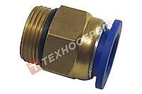 Соединитель тормозных трубок 14-М16 прямой резьба-трубка с манжетой
