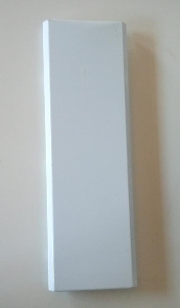 Металева панель (зашивка) для зовнішніх кутових стелажів глуха висотою 450мм