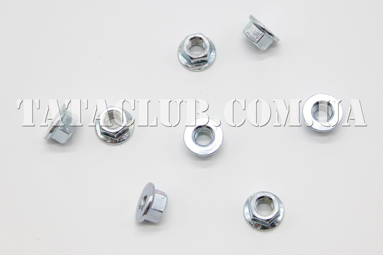 Гайка шестигранная с фланцем М8 цинк белая