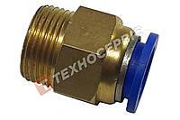 Соединитель тормозных трубок прямой(фитинг) Ø15-М16 WABCO 893 800 820 2 латунный