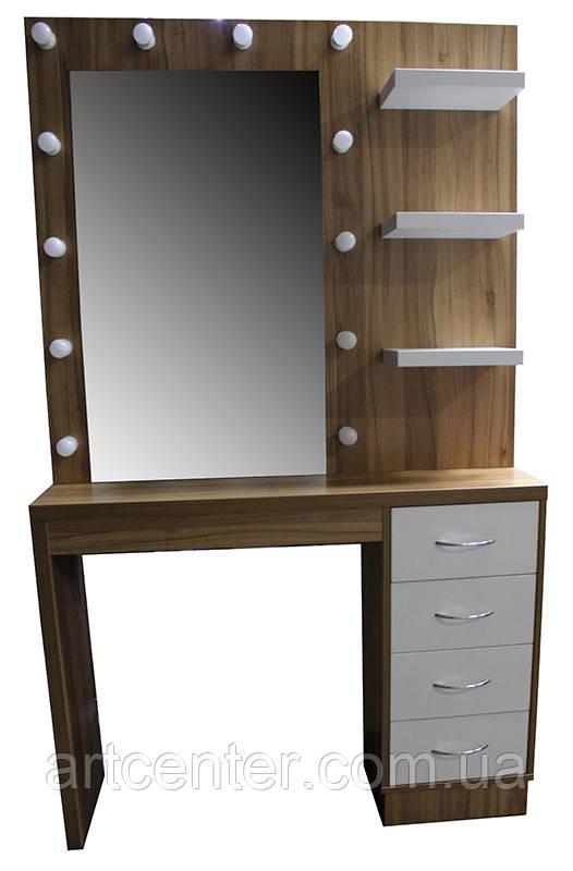 Стол для визажиста,  туалетный столик,  гримерный стол с полочками возле зеркала