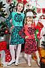 Нарядное детское платье с растительным принтом оптом
