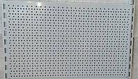 Металева панель 750х450 (зашивка)  перфорована для стелажів, фото 1