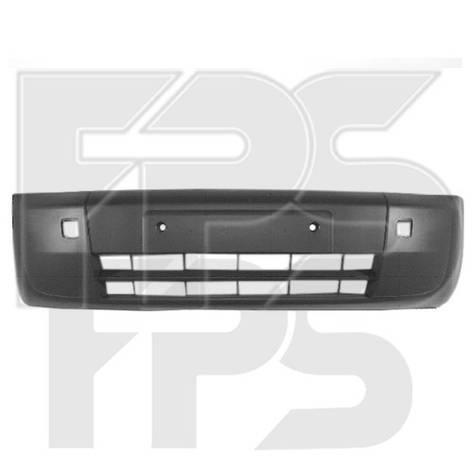 Бампер задний Ford Connect (02-09) метал, черный под покраску (FPS), фото 2