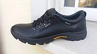 Осенние кожаные кроссовки туфли ecco