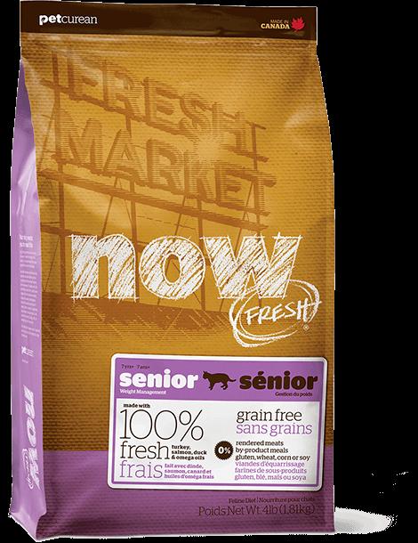 Now Fresh GRAIN FREE Senior Cat - беззерновой корм для кошек с избыточным весом и пожилых кошек (индейка/утка)