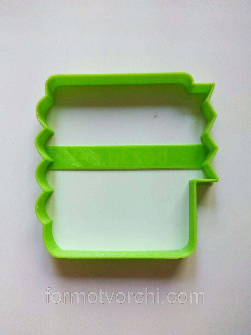 """3D формочки-вырубки для пряников """"Блокнот"""""""