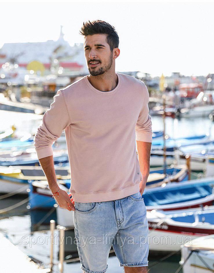 Мужская розовый свитшот