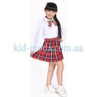 Школьная форма с бантиком (блуза, юбка)