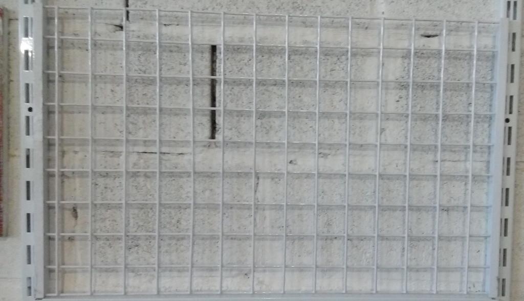 Сітчаста панель (зашивка) для стелажів шириною 1200мм висотою 450мм