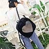 Женский маленький рюкзак из меха Сердце, фото 5