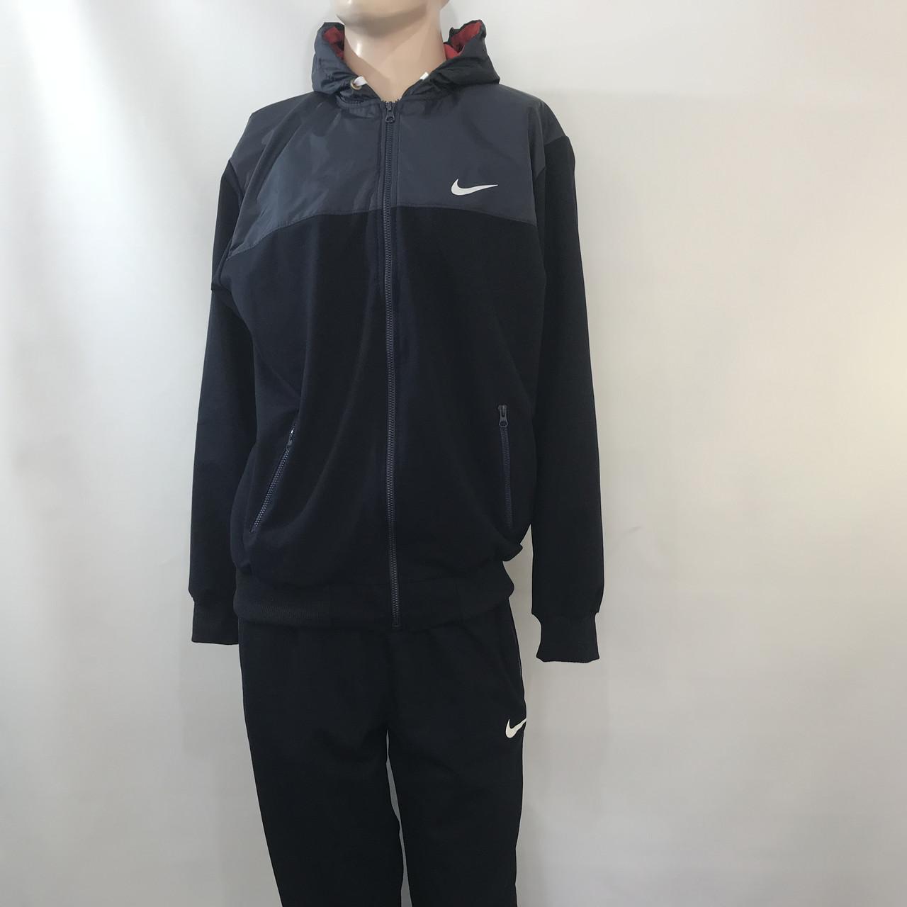 Мужской спортивный костюм Nike (большой размер) / темно синий/ р.56-62