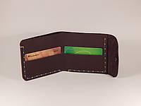 Чоловічий гаманець, кожаный кошелек «Forto», натуральна шкіра, ручна робота, фото 1