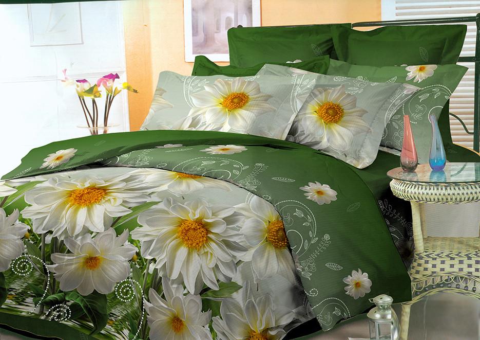 Двуспальный комплект постельного белья 3D (бязь полиэстер)