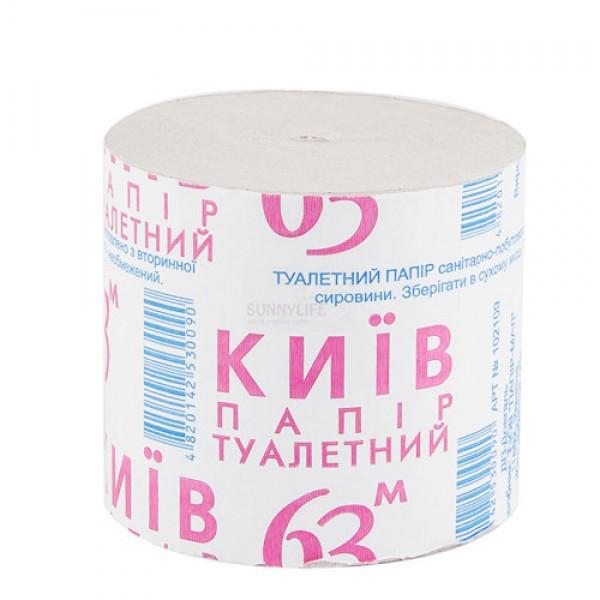 Бумага туалетная макулатурная без гильзы, 8 шт/уп Киев 63