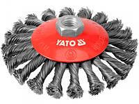 Щетка-крацовка получаша крученая 125мм M14 Yato