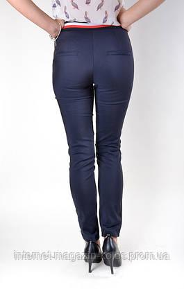 Классические синие брюки с боковым кантом, фото 3