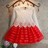 Красивое платье с кружевом  размер 116.