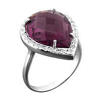 Серебряное кольцо с крупным камнем, фото 1