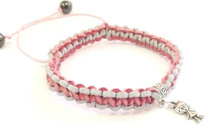 Кожаный плетеный браслет женский