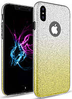 Чехол TOTO TPU Rose series Gradient 3в1 для iPhone X Yellow (CaseNS18)